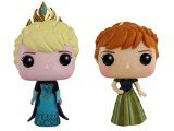 Disney Frozen Sparkle Elsa and Anna in Coronation Dress Funko Pop vinyle figure bundle set