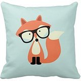 Cute Hipster Red Fox Home Throw Pillow Case Pillow Case Covers Decorative Cover For Sofa 18X18 Inches