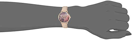 Vince Camuto Women's VC/5348MTLP Rose Gold-Tone and Blush Pink Leather Strap Watch