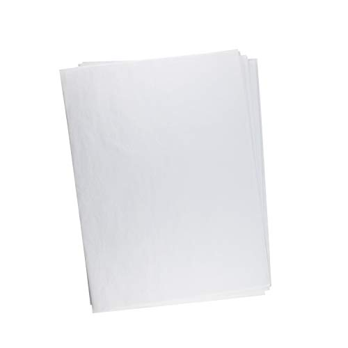 Wrapping Tissue, NiceCode 500pcs White Wrapping Paper Tissue Bulk 15.75x19.69inch Recycled Tissue Paper Unfolded Sheets