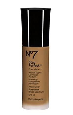 Stay Perfect Foundation spf 15 by boots NO7,chest nut,(pack of3)