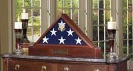 Vice Presidential Flag Case with Urn Pedestal for 5' x 9.5' Burial Flag – Made in USA by USMilitaryStuff