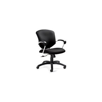 Supra Medium Back Pneumatic Tilter Chair Fabric: Black (Back Pneumatic Tilter)