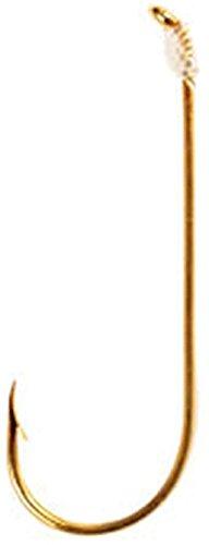 Eagle Claw 121W-6 Aberdeen Light Wire Snell Fishing Hook, 6 Piece (Gold)