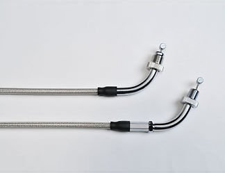 Genuine OEM Honda 08Z56 MFR 100C FURY Motorcycle Stainless Steel Braided Throttle Cables