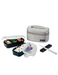 microwavable lock lock bento lunch box set dishwasher safe chopstick kitchen. Black Bedroom Furniture Sets. Home Design Ideas