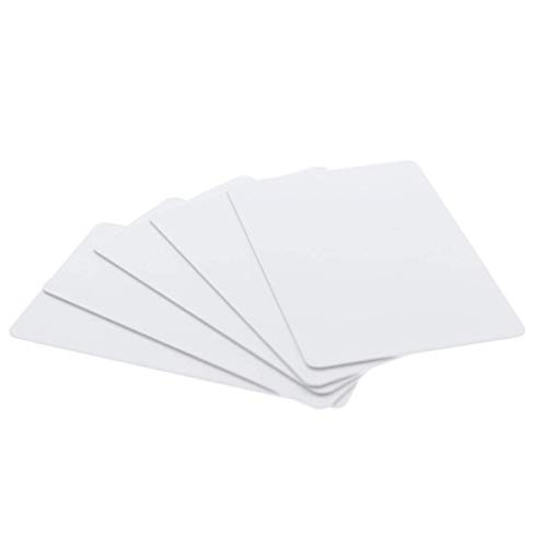 (200 Pack - Premium Blank PVC Cards for ID Badge Printers - Graphic Quality White Plastic CR80 30 Mil (CR8030) by Specialist ID - Compatible with Most Photo ID Badge Printers (White))