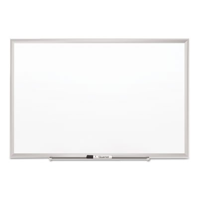 Classic Series Porcelain Magnetic Board, 48 x 36, White, Silver Aluminum Frame, Sold as 1 Each by Quartet
