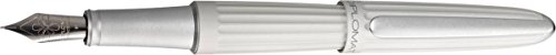(Diplomat Unisex Aero Fountain Pen - Matt Silver - Medium)
