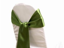 mds Pack of 50 satin chair sashes bow sash for wedding and Events Supplies Party Decoration chair cover sash -Olive green (Wedding Olive Green)