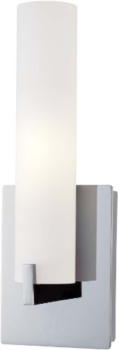 George Kovacs P5040-077, Tube Glass Wall Vanity Lighting, 2 Light Halogen, Chrome - George Kovacs Glass Shade