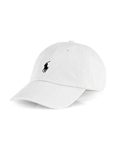 Polo Ralph Lauren Men`s Baseball Cap (White,/Black, One Size) ...
