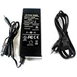 AC 100-240V to DC 12V 5A Power Supply Adapter Switching + AC Cord Cable 5.5x2.1mm for CCTV Camera DVR NVR Led Light Strip UL Listed FCC