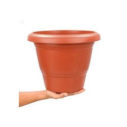 ASFA Deals Plastic Round Planter 10 inch (Pack of 6 with Tray)