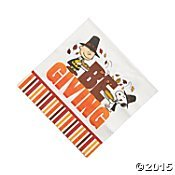 (Peanuts Thanksgiving Napkins Lunch 16 Count Paper Party Napkins)