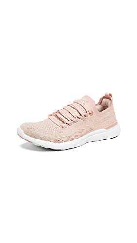APL: Athletic Propulsion Labs Women's Techloom Breeze Sneakers, Rose Dust/Rose Gold/White, 9 M -