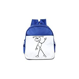 WLF Girl's And Boy's Children Kid's Backpack Pre School Bags Package Comfortable Ant Cartoon RoyalBlue
