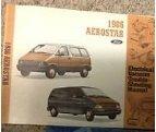 1986 Ford Aerostar Electrical & Vacuum Troubleshooting Manual Original