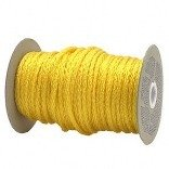 CORDAGE SOURCE Hollow-Braid Poly Rope, 3/8-Inch by 500-Feet, Yellow (Rope Braid Tow)