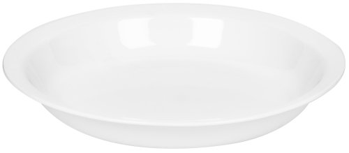 Corelle 1057556 Livingware 9-Inch Deep Dish Pie Plate, Winter Frost White