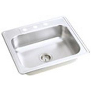 22 Gauge Stainless Steel 25'' X 22'' X 7.0625'' Single Bowl Top Mount Kitchen Sink