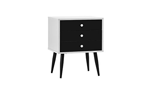 Mid Century Modern Nightstand / Side Table with 3 Drawers 21RxXRB4eGL