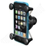 Universal Custom Dash Mount - Ram Mount Cradle Holder for Universal X-Grip Cellphone/iPhone with 1-Inch Ball - Non-Retail Packaging - Black