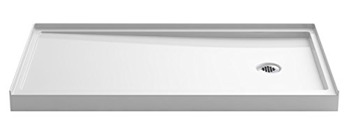 Kohler 8458-0 Rely Single-Threshold Shower Base with Right-Hand Drain, 60