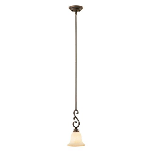 - Millennium Lighting 1201-RBZ Oxford 1-Light Mini-Pendant in Rubbed Bronze