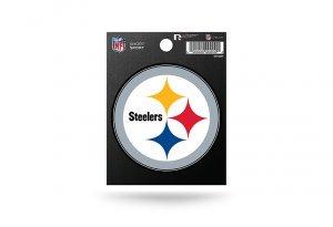Rico Industries NFL Pittsburgh Steelers Die Cut Team Logo Short Sport Sticker