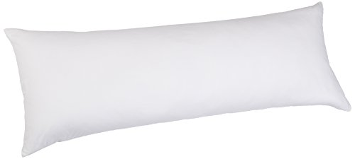 Pinzon Hypoallergenic Down Alternative Body Pillow with Cotton Zippered Pillowcase, 20