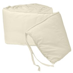 Babydoll Bedding Tailored Baby Cradle Bumpers, Ecru, 18