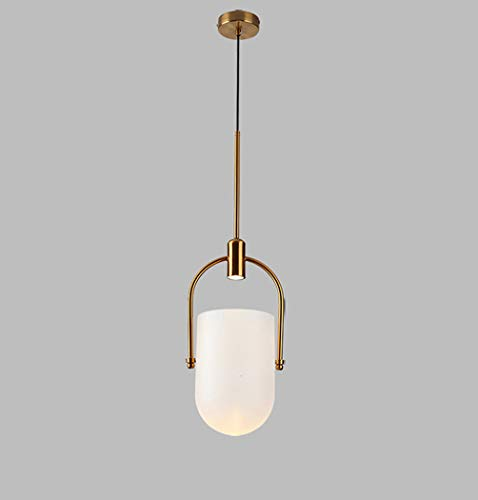 W&HH LED Chandelier Simple Bucket Glass Cover Chandelier Gradient Glass Bucket Chandelier Restaurant Bar Coffee Shop Café Personality Creative - Harbor Bar Rattan