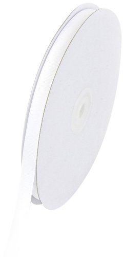 Creative Ideas Solid 3/8-Inch Grosgrain Ribbon, 50-Yard, White