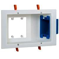 Carlon SC300PRR Outlet Box Dual Voltage Work Plate, 3 Gang, 6.75-Inch Length by 10.25-Inch Width by 2.72-Inch Depth, Orange