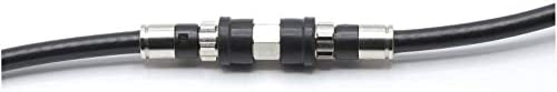 Weather Sealed Cable Extension Coupler - 4 Pack - Cable Extension Adapter (Barrel Splice - Coupler) - Connects Two Coaxial Video Cables (Female to Female Connector) 3GHz Rated