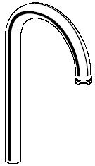 American Standard 060281-0020A Gooseneck Spout, Polished Chrome by American Standard