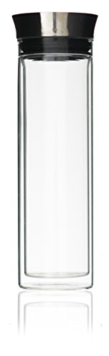 Luigis Beverage Collection (Luigi Bormioli Thermic Double Walled Carafe with Stainless Steel Lid, Clear)