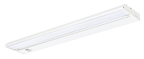 """Nadair UNSLK-11WCT-22WH 22"""" LED Under Cabinet Lighting Kit Direct Wire Closet or Kitchen Cabinet Light Dimmable With 3 Color Modes Built-In, Interconnectable"""