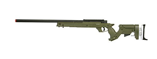 Well Sr22 Full Metal Type 22 Bolt Action Rifle de francotirador Airsoft Gun (OD), Verde