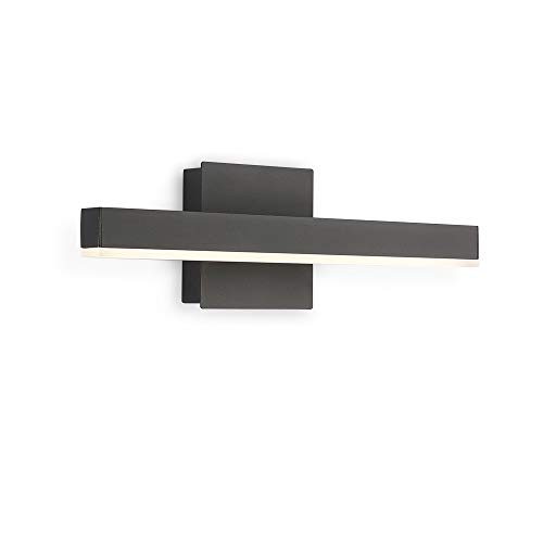 Joossnwell LED Bathroom Vanity Lighting Fixture Morden Bath Light Bar 15.75inch Black Wall Sconce 9W 4000K