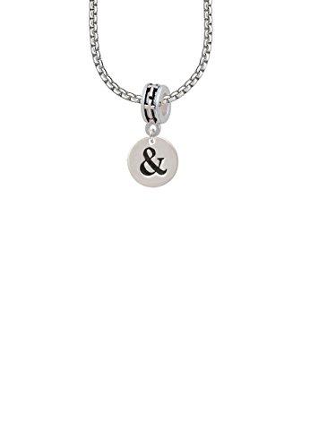 1/2' Enamel Jewelry Pendant - Disc 1/2'' - Symbol - Ampersand - & - Cross Bead Necklace