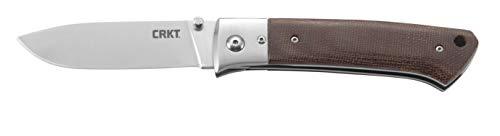 CRKT Torreya Folding Knife with Sheath: Classic Hunting Knife Design, Large Drop Point Blade, Thumb Stud, Locking Liner, Resin Infused Fiber Handle, Nylon Sheath 2879