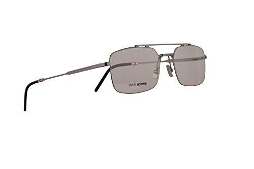Christian Dior Homme Dior0230 Eyeglasses 55-18-150 Dark Ruthenium w/Demo Clear Lens KJ1 0230