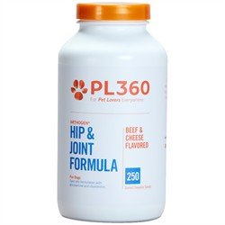 PL360 Hip and Joint Support Chewable Supplements for Dogs, Arthogen, 250 Count ()