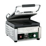 Waring Commercial WPG150TB Grooved Panini Grill with Timer, 208-volt