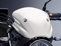 2019年 SV650 ABS スズキ純正アクセサリー メーターバイザー ホワイト 99000990U0002   B07PTPC2PD