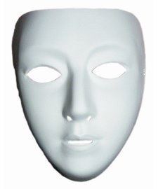 Disguise Costumes Blank Female Mask, Adult ()
