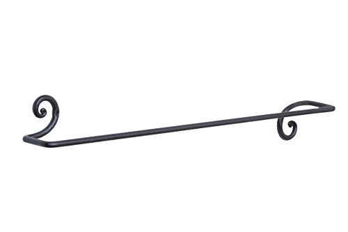 Decorative Towel Bar Rack Holder | Handmade Wrought Iron Hanger by RTZEN-Décor (Bar Decorative)