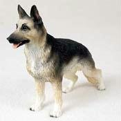 German Shepherd, Black/Tan Original Dog Figurine (4in-5in) ()